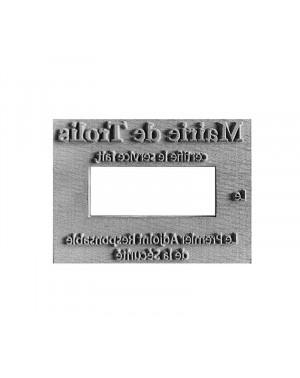 Plaque de texte personnalisée pour Dateur Trodat Printy 4726 - 75x38 mm