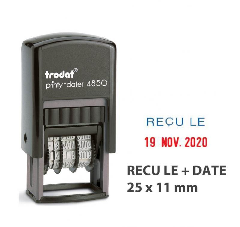 "Mini Dateur Bicolore ""RECU LE"" Trodat Printy 4850L1"