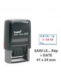 """Tampon Dateur Formule """"SAISI LE/ Par"""" Trodat Printy 4750L8"""