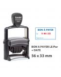 """Tampon Dateur """"BON À PAYER LE/SIGNATURE"""" Trodat Metal Line 5460L5"""
