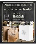 Tampon Trodat Metal Line 5212, 116x70mm, 15 lignes
