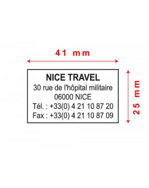 Tampon Trodat Metal Line 5200 - 41x25mm 4-5 lignes