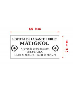 Tampon Trodat Metal Line 5204 - 56x26mm 6 lignes