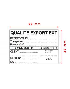Tampon Trodat Metal Line 5208 - 68x47mm 10 lignes