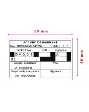 Tampon Trodat Metal Line 5211 - 85x55mm 12 lignes