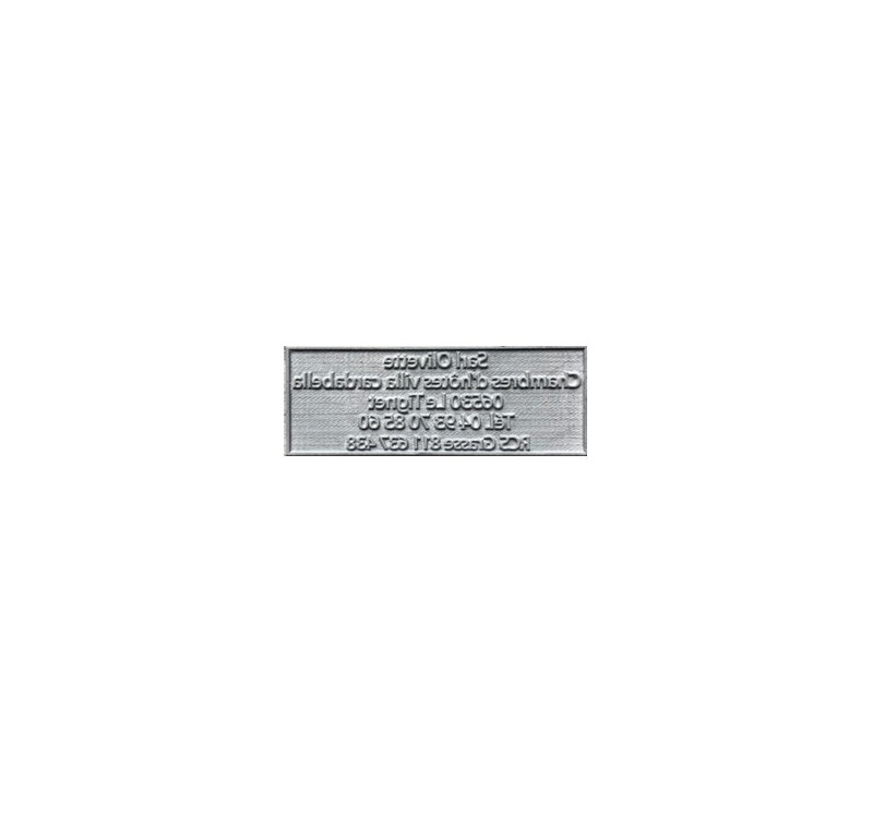 Plaque de texte personnalisée pour tampon Trodat Metal 5200 - 41x24 mm