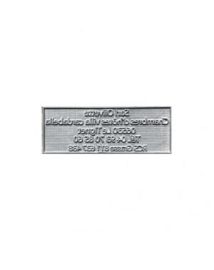 Plaque de texte personnalisée pour tampon Trodat Printy 4916
